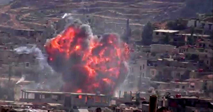syria in flames